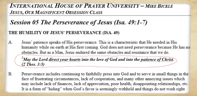Screenshot of the notes accompanying the sermon