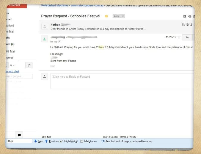 Schoolies Email