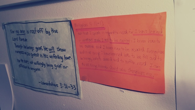 Sticky note Bible verses